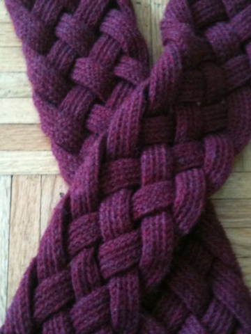 Knitting Pattern Braided Scarf : braided scarf Quaintrelle Noire
